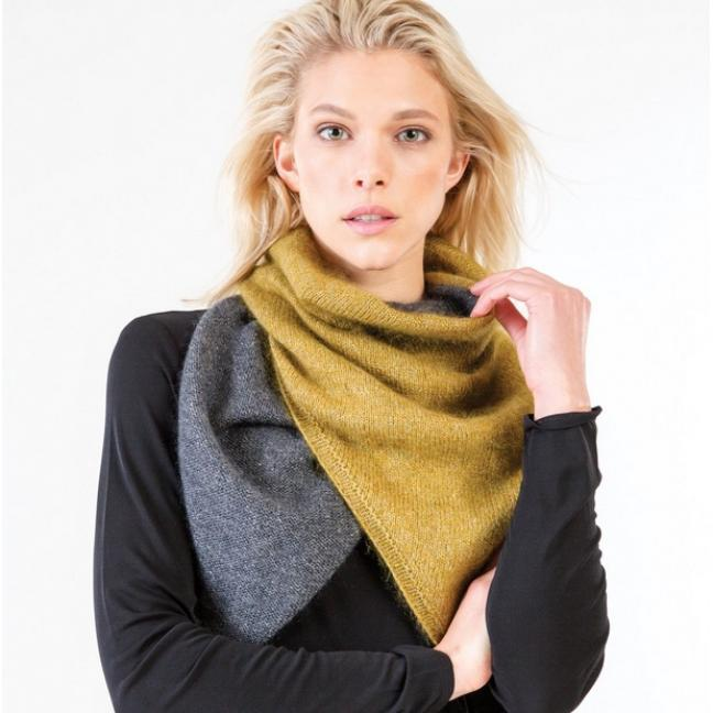 Shibui Knits Printed patterns in English Athos for Pebble and Silk Cloud