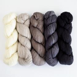 Kremke Soul Wool Lazy Lion Sock Yarn Semi Solid Mix Grau-Natur