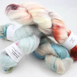 Cowgirl Blues Fluffy Mohair gradient 100g