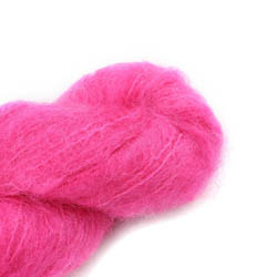 Cowgirl Blues Fluffy Mohair Semi Solids 32-Hot Pink