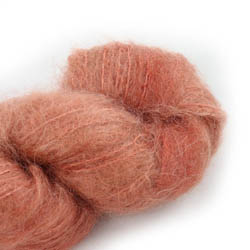 Cowgirl Blues Fluffy Mohair Semi Solids 31-Terracotta