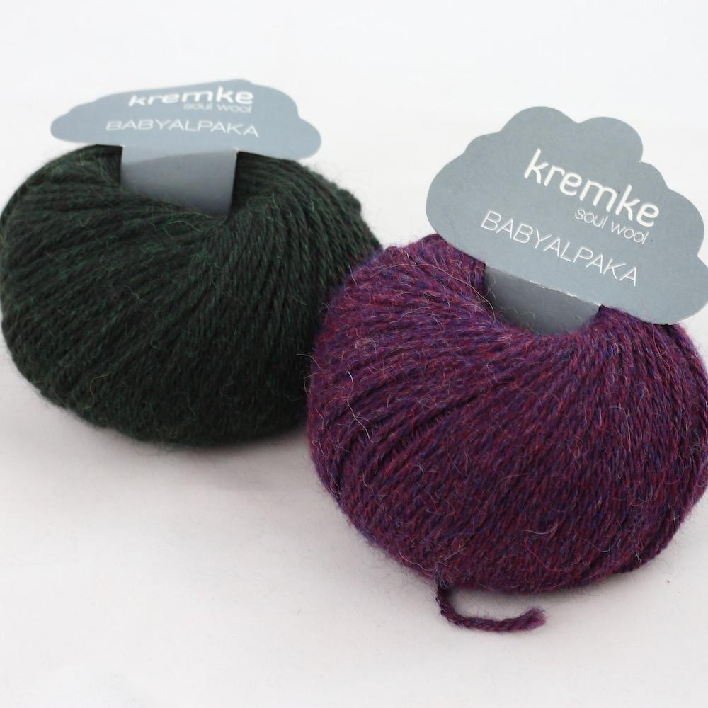 Kremke Soul Wool Baby Alpaca Pflaume Waldgrün