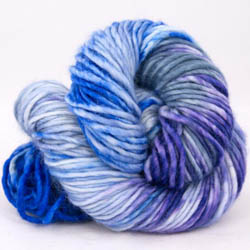 Cowgirl Blues Aran Single gradient (100g) CobaltAirforceBlueberryIcedberry