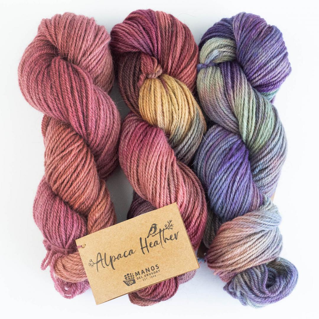 Manos del Uruguay Alpaca Heather Space Dyed  Malbec