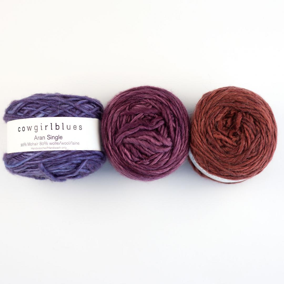 Cowgirl Blues Aran Single solid
