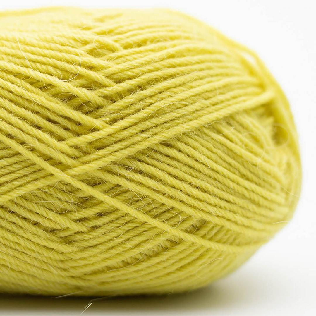 Kremke Soul Wool Edelweiss Alpaca 25 Grün-Gelb