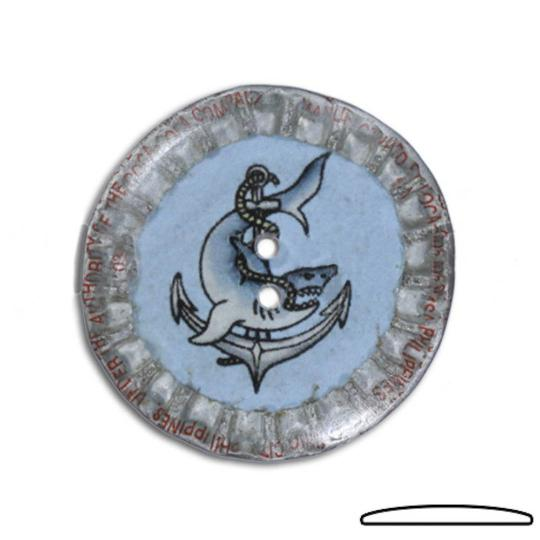Jim Knopf Button from recycled crown cap 31mm