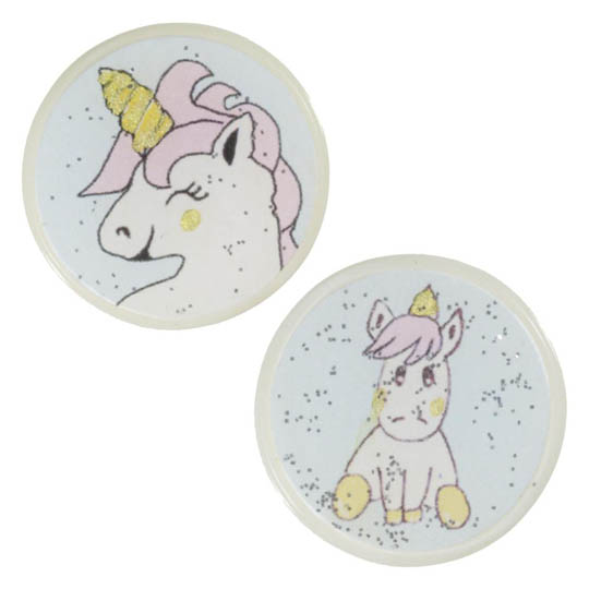 Jim Knopf Resin button with unicorn motiv 18 or 23mm