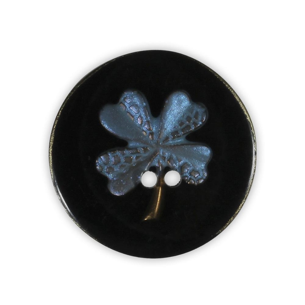 Jim Knopf Resin button flower motiv 18mm