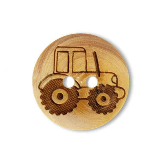 Jim Knopf Wood button mouse or rabbit 32mm