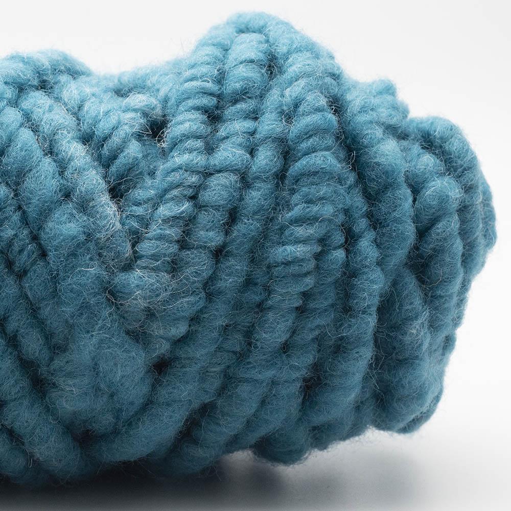 Kremke Soul Wool RUGby Teppichwolle gefärbt Dunkeltürkis