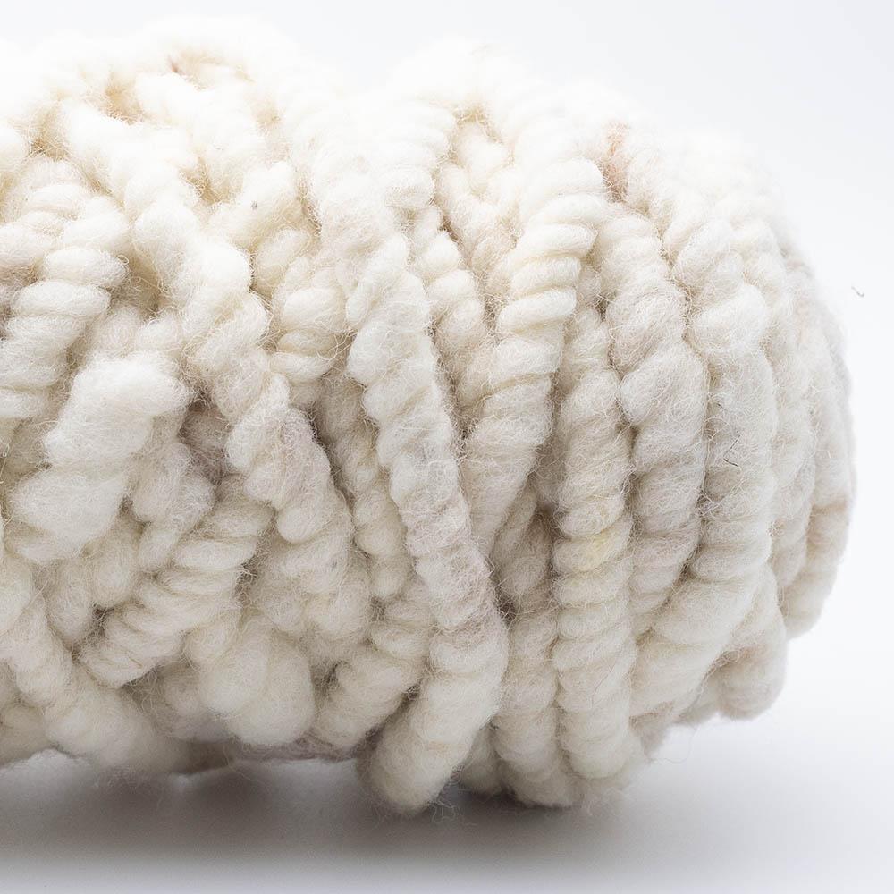 Kremke Soul Wool Rugby Teppichwolle GOTS ungefärbt Naturweiß beige ungefärbt