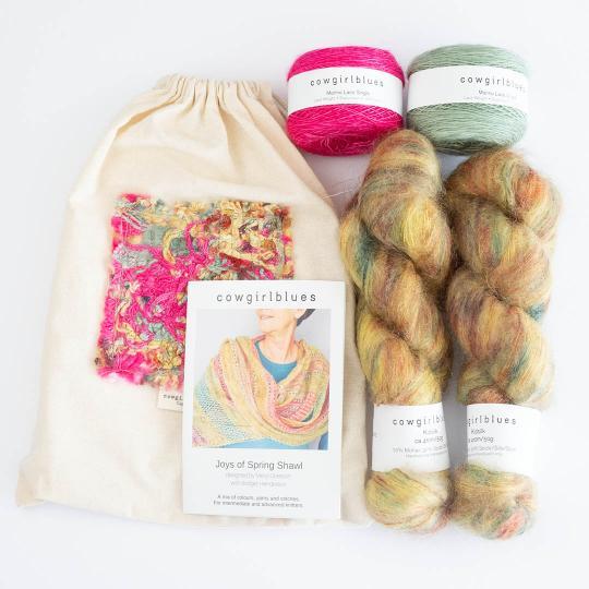 Cowgirl Blues Joys of Spring Shawl Kit
