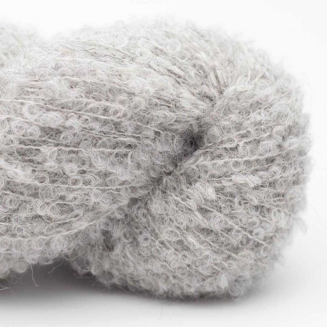 Kremke Alpaca Bouclé Hellgrau