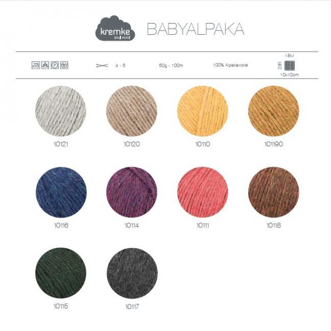 Kremke Farbkarten von Kremke Soul Wool Babyalpaka gedruckt DE
