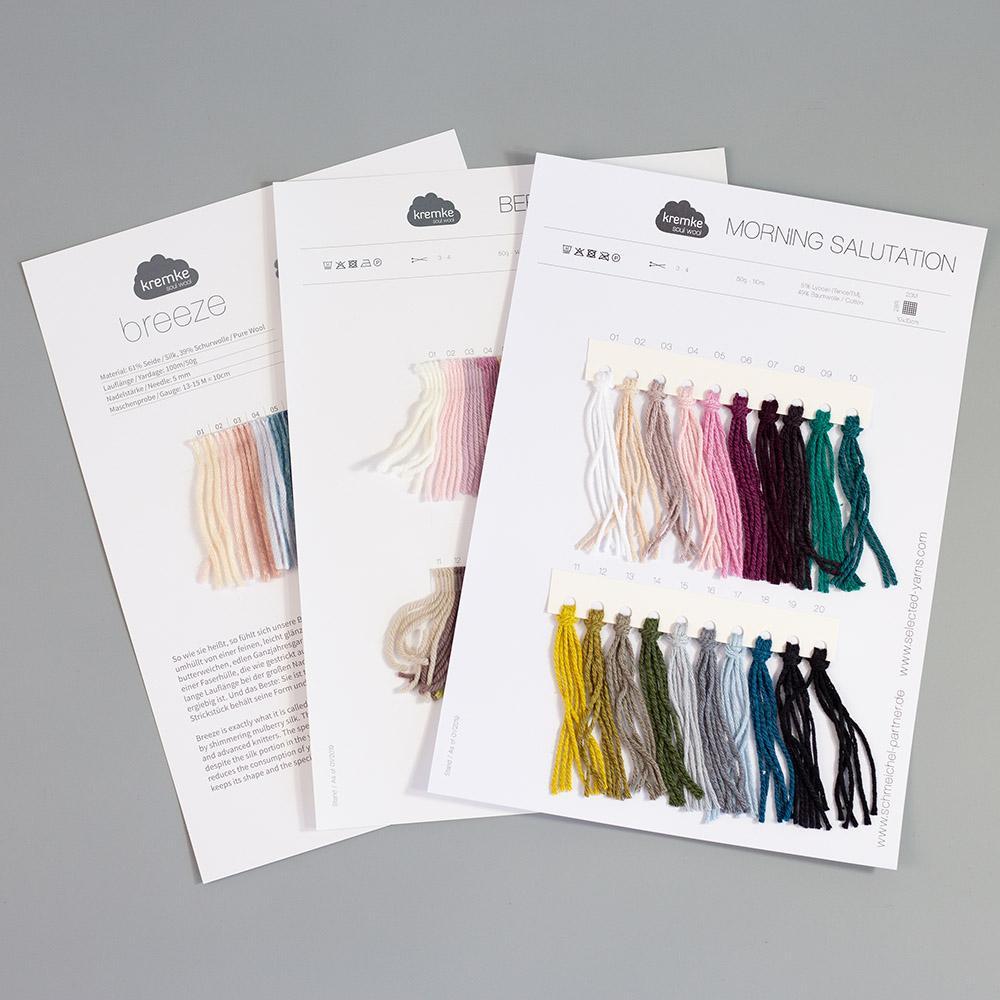 Kremke Farbkarten von Kremke Soul Wool  Silky Kid gedruckt_DE