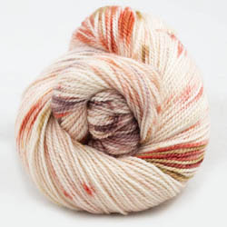 Cowgirl Blues Merino Twist Yarn gradient Peaches and Cream