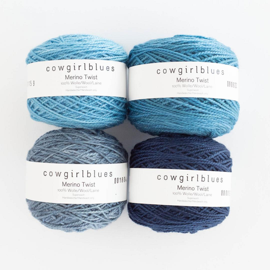 Cowgirl Blues Merino Sock Twist yarn - solid